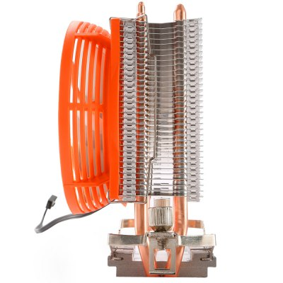Segotep Frozen Tower T2 Heatpipe CPU CoolerCPU Cooler<br>Segotep Frozen Tower T2 Heatpipe CPU Cooler<br><br>Brand: Segotep<br>Type: Cooling Fan<br>Bearing Type: Hydraumatic<br>Rated Voltage: 12V DC<br>Noise: Less than or Equal to 21.6dB<br>Speed: 2000RPM Plus or Minus 10 Percent<br>Color: Orange<br>Material: Aluminum,Copper<br>Product weight: 0.256 kg<br>Package weight: 0.340 kg<br>Fans Dimensions (L x W x H): 9cm<br>Product size (L x W x H): 11.60 x 6.10 x 12.30 cm / 4.57 x 2.4 x 4.84 inches<br>Package size (L x W x H): 13.60 x 7.60 x 14.30 cm / 5.35 x 2.99 x 5.63 inches<br>Package Contents: 1 x Segotep Frozen Tower T2 Heatpipe CPU Cooler Heatsink