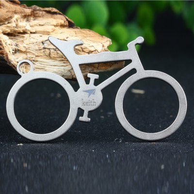 Keith Ti1301 Bike Shaped Titanium Bottle Opener