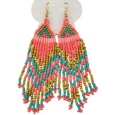 Bohemian Style Exaggerated Beads Earrings For Women