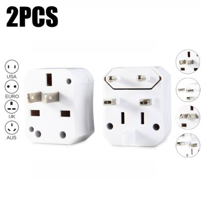2PCS UA93A Universal Travel Adapter Power Plug Converter