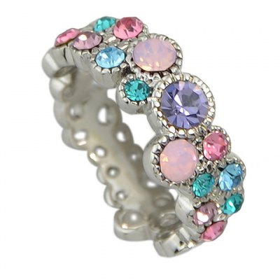 Trendy Rhinestoned Colorful Ring For WomenRings<br>Trendy Rhinestoned Colorful Ring For Women<br><br>Gender: For Women<br>Metal Type: Alloy<br>Style: Trendy<br>Shape/Pattern: Others<br>Diameter: 1.7CM<br>Weight: 0.05KG<br>Package Contents: 1 x Ring
