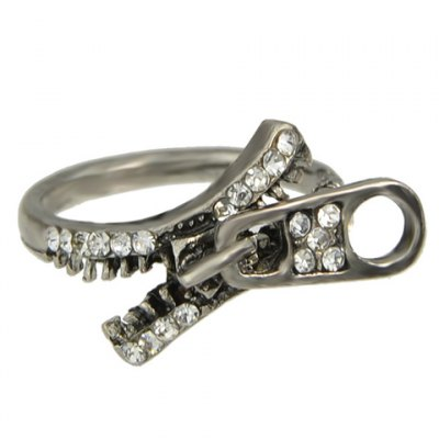 Trendy Rhinestoned Zipper Shape Ring For WomenRings<br>Trendy Rhinestoned Zipper Shape Ring For Women<br><br>Gender: For Women<br>Metal Type: Alloy<br>Style: Trendy<br>Shape/Pattern: Others<br>Diameter: 1.7CM<br>Weight: 0.05KG<br>Package Contents: 1 x Ring