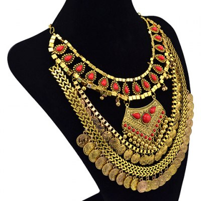 Vintage Multideck Coin Tassel Necklace For WomenNecklaces &amp; Pendants<br>Vintage Multideck Coin Tassel Necklace For Women<br><br>Item Type: Pendant Necklace<br>Gender: For Women<br>Necklace Type: Link Chain<br>Style: Trendy<br>Shape/Pattern: Others<br>Weight: 0.210KG<br>Package Contents: 1 x Necklace