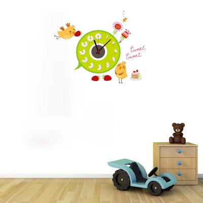 Funny Cartoon Chick Pattern DIY Wall Sticker ClockClocks<br>Funny Cartoon Chick Pattern DIY Wall Sticker Clock<br><br>Type: Wall Clock<br>Theme: Animals<br>Style: Contemporary, Cute, Fashion, Modern<br>Time Display: Analog<br>Material: ABS, PVC, Plastic<br>Shape: Novelty, Round<br>Color: Black<br>Product weight   : 0.180 kg<br>Package weight   : 0.250 kg<br>Product size (L x W x H)   : 67 x 55 x 3 cm / 26.33 x 21.62 x 1.18 inches<br>Package size (L x W x H)  : 19 x 32 x 4.5 cm / 7.47 x 12.58 x 1.77 inches<br>Package Contents: 1 x Clock, 1 x Sticker