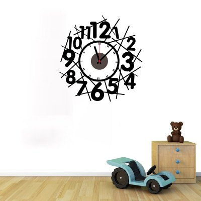 Crossing Number Style DIY Clock Wall Decoration