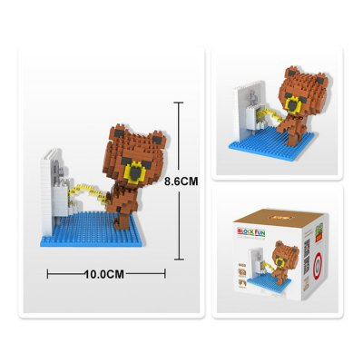 LOZ 350Pcs 9430 Washroom Brown Bear Figure Building Block Toy for Enhancing Social Cooperation Ability