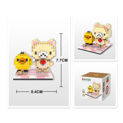 LOZ 310Pcs 9436 Korilakkuma and Kiiroitori Building Block Toy for Enhancing Social Cooperation AbilityBlock Toys<br>LOZ 310Pcs 9436 Korilakkuma and Kiiroitori Building Block Toy for Enhancing Social Cooperation Ability<br><br>Product Model: 9436<br>Type: Building Blocks<br>Age: 14 Years+<br>Material: ABS<br>Character Name: Korilakkuma and Kiiroitori<br>Design Style: Cartoon<br>Features: DIY<br>Puzzle Style: 3D Puzzle<br>Small Parts : Yes<br>Washing : Yes<br>Applicable gender: Unisex<br>Package Weight   : 0.095 kg<br>Package Size (L x W x H)  : 8.5 x 8.5 x 8.5 cm / 3.34 x 3.34 x 3.34 inches<br>Package Contents: 310 x Module, 1 x User Manual