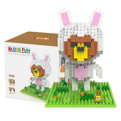 LOZ 350Pcs 9433 Cony Bunny Figure Building Block Toy for Enhancing Social Cooperation Ability