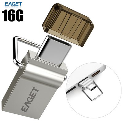 2 in 1 EAGET CU10 16G USB 3.0 to Type-C Flash Memory