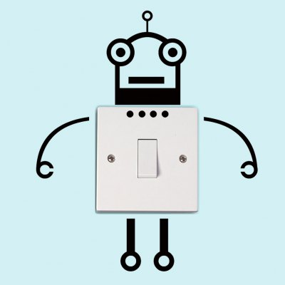 Creative Robot Switch Removable Wall Stickers