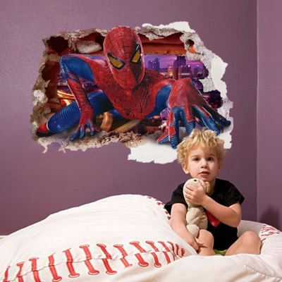 3D Spider-Man Design Wall Stickers