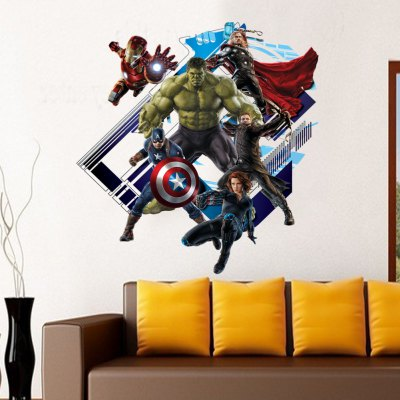 3D New Revenge Alliance Style Removable Wall Stickers