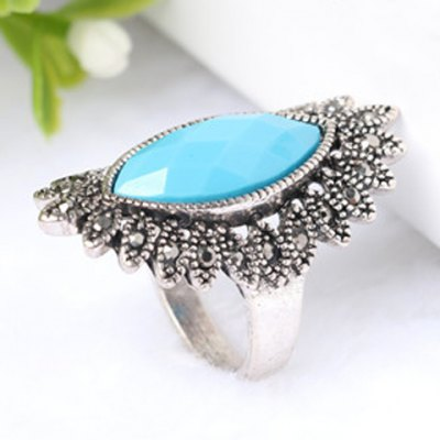 Charming Faux Gemstone Oval Ring For MenRings<br>Charming Faux Gemstone Oval Ring For Men<br><br>Gender: For Men<br>Metal Type: Alloy<br>Style: Trendy<br>Shape/Pattern: Geometric<br>Diameter: 1.8CM<br>Weight: 0.060KG<br>Package Contents: 1 x Ring