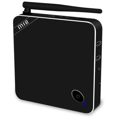 Beelink M18 TV Box Android 5.1TV Box &amp; Mini PC<br>Beelink M18 TV Box Android 5.1<br><br>Brand: Beelink<br>Model: M18<br>Type: TV Box<br>GPU: Mali-450<br>System: Android 5.1<br>CPU: Amlogic S905<br>Core: Quad Core<br>RAM: 2G<br>ROM: 16G<br>Max. Extended Capacity: SD card up to 32GB (not included)<br>Color: Black<br>Video format: AVI,DAT,MKV,MOV,MP4,MPEG,MPG,RM,WMV<br>Audio format: AAC,FLAC,MP3,OGG,RM,WAV,WMA<br>Photo Format: BMP,GIF,JPEG,JPG,PNG,TIFF<br>WIFI: 802.11 a/b/g/n<br>Bluetooth: Bluetooth4.0<br>Power Supply: Charge Adapter<br>Interface: AV,DC Power Port,HDMI,LAN,OTG,SPDIF,TF card,USB2.0<br>Antenna: Yes<br>Language: Multi-language<br>Certificate: CE<br>System Bit: 64Bit<br>Power Type: External Power Adapter Mode<br>Product weight: 0.269 kg<br>Package weight: 0.557 kg<br>Product size (L x W x H): 12.50 x 12.50 x 2.20 cm / 4.92 x 4.92 x 0.87 inches<br>Package size (L x W x H): 15.40 x 15.40 x 8.10 cm / 6.06 x 6.06 x 3.19 inches<br>Package Contents: 1 x M18 TV Box, 1 x HDMI Cable, 1 x Power Adapter, 1 x Remote Controller, 1 x English Manual