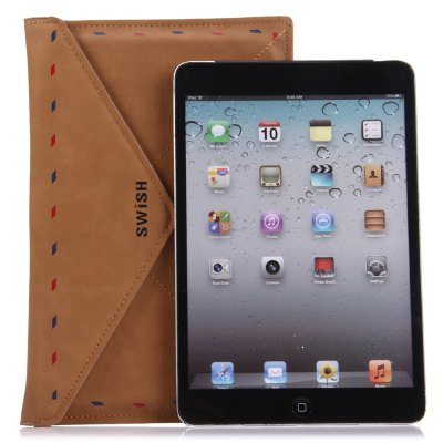 Portable PU Leather Protective Case for iPad MiniiPad Cases/Covers<br>Portable PU Leather Protective Case for iPad Mini<br><br>Material: PU Leather<br>Style: Novelty<br>Compatible Models: iPad mini<br>Color: Brown<br>Product weight: 0.090 kg<br>Package weight: 0.101 kg<br>Product size (L x W x H) : 22.5 x 14.7 x 1.8 cm / 8.84 x 5.78 x 0.71 inches<br>Package size (L x W x H): 22.3 x 15 x 1.8 cm / 8.76 x 5.90 x 0.71 inches<br>Package Contents: 1 x PU Leather Case