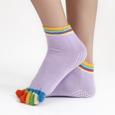 Xianzhuxiu Yoga Five-fingers Socks with Anti-slip Granules