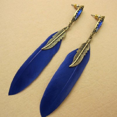 Pair of Vintage Feather Shape Tassel Earrings For WomenEarrings<br>Pair of Vintage Feather Shape Tassel Earrings For Women<br><br>Earring Type: Drop Earrings<br>Gender: For Women<br>Style: Trendy<br>Shape/Pattern: Feather<br>Length: 10CM<br>Weight: 0.054KG<br>Package Contents: 1 x Earring(Pair)