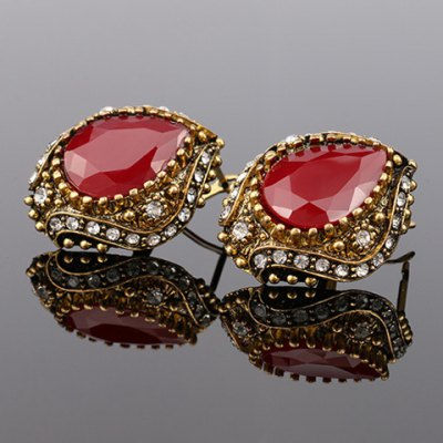 Pair of Vintage Rhinestone Faux Gemstone Water Drop Earrings For WomenEarrings<br>Pair of Vintage Rhinestone Faux Gemstone Water Drop Earrings For Women<br><br>Earring Type: Drop Earrings<br>Gender: For Women<br>Style: Trendy<br>Shape/Pattern: Water Drop<br>Length: 3CM<br>Weight: 0.070KG<br>Package Contents: 1 x Earring (Pair)