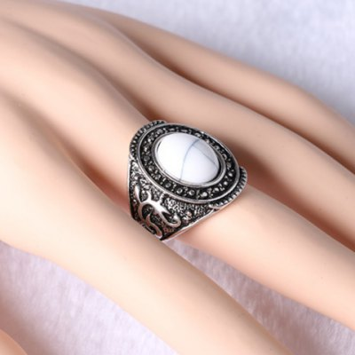 Retro Rhinestone Oval Turquoise Carving Ring For MenRings<br>Retro Rhinestone Oval Turquoise Carving Ring For Men<br><br>Gender: For Men<br>Metal Type: Alloy<br>Style: Trendy<br>Shape/Pattern: Others<br>Diameter: 1.7CM<br>Weight: 0.060KG<br>Package Contents: 1 x Ring