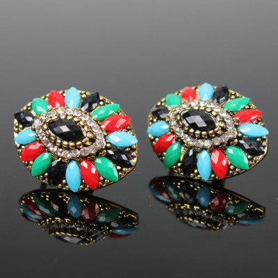 Pair of Graceful Rhinestone Artificial Gemstone Oval Earrings For WomenEarrings<br>Pair of Graceful Rhinestone Artificial Gemstone Oval Earrings For Women<br><br>Earring Type: Drop Earrings<br>Gender: For Women<br>Style: Trendy<br>Shape/Pattern: Geometric<br>Length: 2.9CM<br>Weight: 0.060KG<br>Package Contents: 1 x Earring (Pair)
