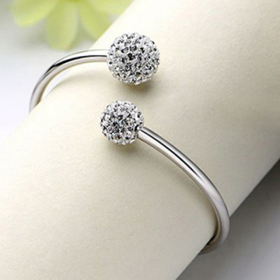 Charming Ball Twisted Cuff Bracelet For Women