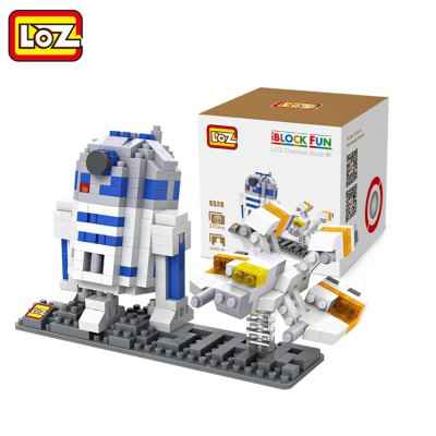 LOZ 370Pcs Star Wars R2 - D2 Astronaut Robot IQ Training Family Game Perfect Gift