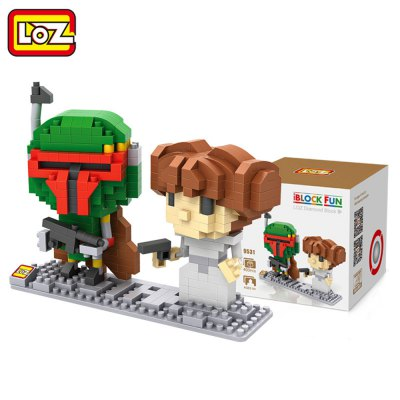 LOZ 400Pcs Star Wars Princess Leia and Boba Fett IQ Training Family Game Perfect Gift