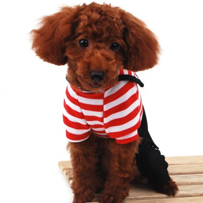 Soft Navy Stripe Pet Dog Clothes Puppy JumpsuitDog Clothing &amp; Shoes<br>Soft Navy Stripe Pet Dog Clothes Puppy Jumpsuit<br><br>For: Dogs<br>Type: Cloth<br>Material: Cotton<br>Season: Autumn, Winter<br>Product weight   : 0.160 kg<br>Package weight   : 0.250 kg<br>Package size (L x W x H)  : 25 x 11 x 4 cm / 9.83 x 4.32 x 1.57 inches<br>Package Contents: 1 x Pet Dog Cloth
