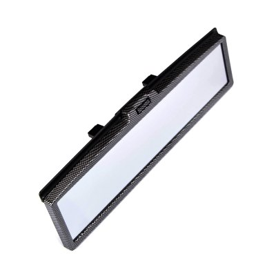 Car Interior Flat Panoramic Rear View Mirror with 3D White LED