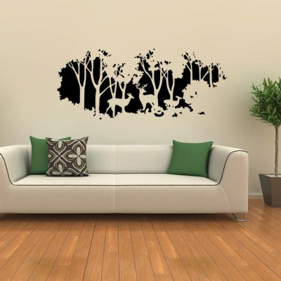 Forest Deer Removable PVC Wallpaper