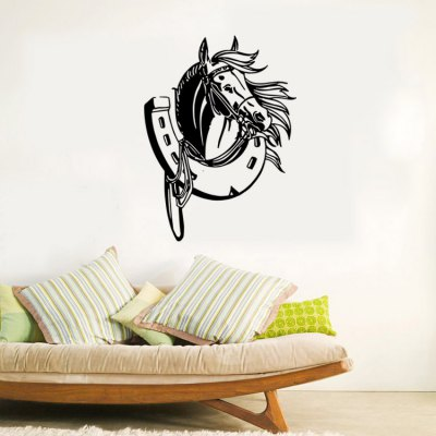 Horse Shoe Style Removable PVC Wall Stickers