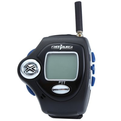 820 2pcs Wrist Watch Style Walkie TalkieWalkie Talkies<br>820 2pcs Wrist Watch Style Walkie Talkie<br><br>Model Number: 820<br>Frequency Bands: UHF<br>Product Weight: 0.065 kg<br>Package Weight: 0.440 kg<br>Product Dimension: 24.0 x 5.6 x 2.6 cm / 9.43 x 2.20 x 1.02 inches<br>Package Dimension: 18 x 15 x 7.6 cm / 7.07 x 5.90 x 2.99 inches<br>Package Contents: 2 x 820 Walkie Talkie, 2 x US Plug Charger, 2 x Headphone, 1 x English User Manual, 2 x 3.7V 600mAh Li-ion Battery