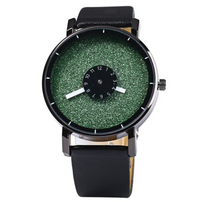 Men Quartz Watch with Rotational Scales Leather BandMens Watches<br>Men Quartz Watch with Rotational Scales Leather Band<br><br>Watches categories: Male table<br>Watch style: Fashion<br>Available color: Yellow, Pink, Red, Blue, Green<br>Movement type: Quartz watch<br>Shape of the dial: Round<br>Display type: Analog<br>Case material: Stainless steel<br>Band material: Leather<br>Clasp type: Pin buckle<br>The dial thickness: 0.8 cm / 0.31 inches<br>The dial diameter: 4.0 cm / 1.57 inches<br>The band width: 2.0 cm / 0.79 inches<br>Wearable length: 16 - 21 cm / 6.3 - 8.27 inches<br>Product weight: 0.036 kg<br>Package weight: 0.086 kg<br>Product size (L x W x H): 24 x 4 x 0.8 cm / 9.43 x 1.57 x 0.31 inches<br>Package size (L x W x H): 25 x 5 x 1.8 cm / 9.83 x 1.97 x 0.71 inches<br>Package contents: 1 x Watch