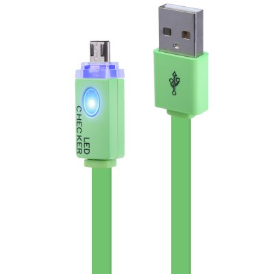 Micro USB Charge and Data Sync Luminous Flat Cable 1m