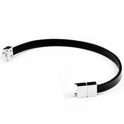 Fashionable Faux Leather Chain Bracelet For MenBracelets &amp; Bangles<br>Fashionable Faux Leather Chain Bracelet For Men<br><br>Item Type: Charm Bracelet<br>Gender: For Men<br>Chain Type: Leather Chain<br>Style: Trendy<br>Shape/Pattern: Others<br>Weight: 0.059KG<br>Package Contents: 1 x Bracelet
