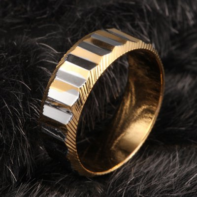 Simple Style Rectangle Ring For Men
