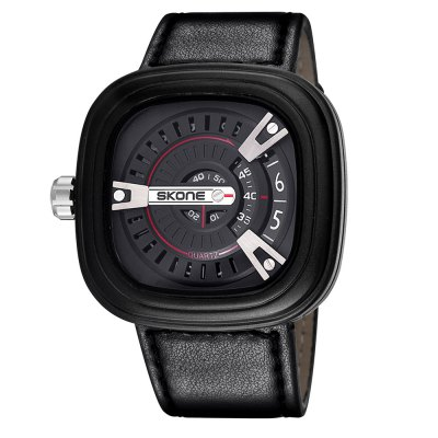 Skone 3752 Rotational Scales Men Japan Movt Quartz WatchMens Watches<br>Skone 3752 Rotational Scales Men Japan Movt Quartz Watch<br><br>Brand: Skone<br>Watches categories: Male table<br>Watch style: Fashion<br>Available color: Black, Red, Blue, Orange, Yellow<br>Movement type: Quartz watch<br>Shape of the dial: Square<br>Display type: Analog<br>Case material: Alloy<br>Band material: PU leather<br>Clasp type: Pin buckle<br>The dial thickness: 1.2 cm / 0.47 inches<br>The dial diameter: 5.2 cm / 2.04 inches<br>The band width: 2.8 cm / 1.1 inches<br>Product weight: 0.095 kg<br>Package weight: 0.125 kg<br>Product size (L x W x H): 25.5 x 5.2 x 1.2 cm / 10.02 x 2.04 x 0.47 inches<br>Package size (L x W x H): 26.5 x 6.2 x 2.2 cm / 10.41 x 2.44 x 0.86 inches<br>Package contents: 1 x Skone 3752 Watch
