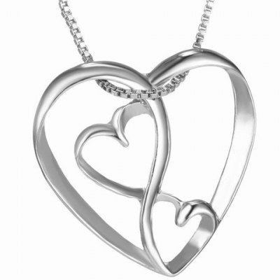 Cute Multilayered Heart Shape Hollow Pendant Necklace For Women