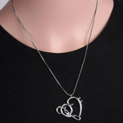 Music Note Heart Shape Hollow Out NecklaceNecklaces &amp; Pendants<br>Music Note Heart Shape Hollow Out Necklace<br><br>Gender: For Women<br>Item Type: Pendant Necklace<br>Length: 50CM<br>Package Contents: 1 x Necklace<br>Shape/Pattern: Heart<br>Style: Trendy<br>Weight: 0.059KG