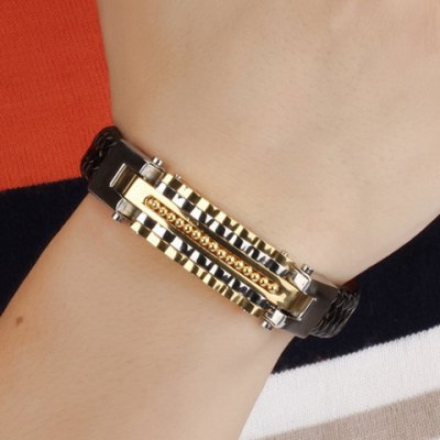 Vintage Beads Faux Leather Braided Bracelet