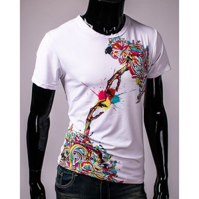 3D Colorful Flower and Skull Print Round Neck Short Sleeve Mens T-ShirtMens Short Sleeve Tees<br>3D Colorful Flower and Skull Print Round Neck Short Sleeve Mens T-Shirt<br><br>Material: Cotton, Polyester<br>Sleeve Length: Short<br>Collar: Round Neck<br>Style: Fashion<br>Weight: 0.35KG<br>Package Contents: 1 x T-Shirt<br>Pattern Type: Floral
