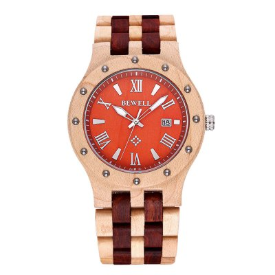 Bewell 2741 Sandalwood Date Function Male Japan Quartz Watch - BewellMens Watches<br>Bewell 2741 Sandalwood Date Function Male Japan Quartz Watch<br><br>Brand: Bewell<br>Watches categories: Male table<br>Watch style: Casual<br>Available color: Khaki, Red Wine<br>Movement type: Quartz watch<br>Shape of the dial: Round<br>Display type: Analog<br>Case material: Sandalwood<br>Band material: Sandalwood<br>Clasp type: Sheet folding clasp<br>Special features: Date<br>The dial thickness: 1.2 cm / 0.47 inches<br>The dial diameter: 4.6 cm / 1.81 inches<br>The band width: 2.5 cm / 0.98 inches<br>Product weight: 0.058 kg<br>Package weight: 0.088 kg<br>Product size (L x W x H): 22.8 x 4.6 x 0.6 cm / 8.96 x 1.81 x 0.24 inches<br>Package size (L x W x H): 23.8 x 5.6 x 1.6 cm / 9.35 x 2.20 x 0.63 inches<br>Package contents: 1 x Bewell 2741 Watch