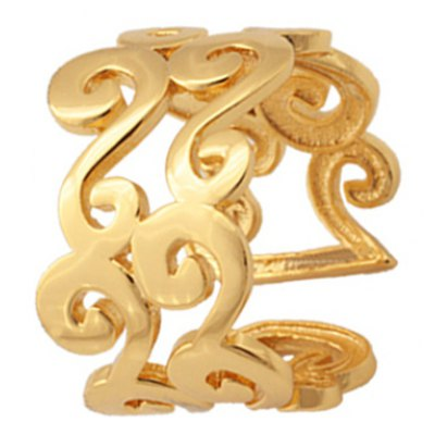 Chic Solid Color S-Shaped Cuff Ring For Women