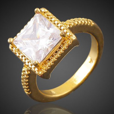 Gorgeous Square Shape Faux Crystal Ring For Women