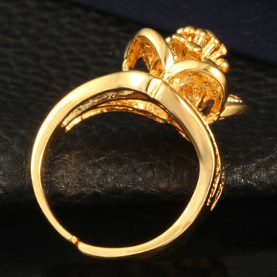 Фотография Noble Solid Color Hollow Out Flower Shape Ring For Women