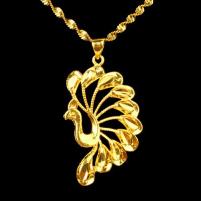 Noble Solid Color Peacock Shape Pendant For Women