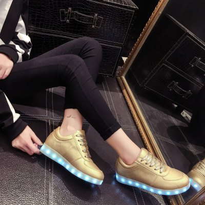 Unisex LED Shoes USB ChargingShoes<br>Unisex LED Shoes USB Charging<br><br>Size: 41, 42, 38, 43, 44, 39, 40<br>Gender: Unisex<br>Season: Spring, Autumn, Winter<br>Closure Type: Lace-up<br>Sole Material: Rubber<br>Surface Material: PU Leather<br>Lining Material: Imitation Pigskin<br>Upper Height: Low<br>Highlights: LED Light, Breathable, Soft<br>Battery: Buit-in Lithium Battery<br>Charging: USB Charging<br>Charging Time: 1-2 hours<br>Using Time: 5 hours<br>Battery Voltage: 3.7V<br>Product Weight: 0.600 kg<br>Package Weight: 0.92 kg<br>Package Size: 30 x 21 x 13 cm / 11.79 x 8.25 x 5.11 inches<br>Package Contents: 1 x Pair of LED Shoes, 1 x USB Charging Cable