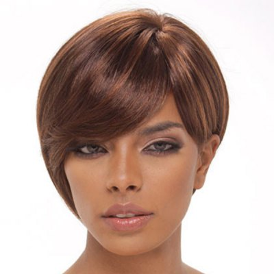 Charming Natural Straight Side Bang Human Hair Short Capless Wig For WomenMixed Hair Wigs<br>Charming Natural Straight Side Bang Human Hair Short Capless Wig For Women<br><br>Type: Full Wigs<br>Style: Straight<br>Material: Human Hair<br>Bang Type: Side<br>Length: Short<br>Weight: 0.16KG<br>Package Contents: 1 ? Wig