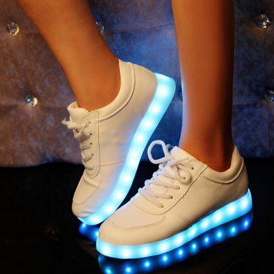 Unisex LED Shoes USB ChargingShoes<br>Unisex LED Shoes USB Charging<br><br>Size: 42, 38, 43, 44, 39, 40, 41<br>Gender: Unisex<br>Season: Autumn, Winter, Spring<br>Closure Type: Lace-up<br>Sole Material: Rubber<br>Surface Material: PU Leather<br>Lining Material: Imitation Pigskin<br>Upper Height: Low<br>Highlights: LED Light, Breathable, Soft<br>Battery: Buit-in Lithium Battery<br>Charging: USB Charging<br>Charging Time: 1-2 hours<br>Using Time: 5 hours<br>Battery Voltage: 3.7V<br>Product Weight: 0.600 kg<br>Package Weight: 0.92 kg<br>Package Size: 30 x 21 x 13 cm / 11.79 x 8.25 x 5.11 inches<br>Package Contents: 1 x Pair of LED Shoes, 1 x USB Charging Cable
