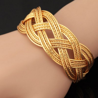 Noble Solid Color Woven Hollow Out Bracelet For Women